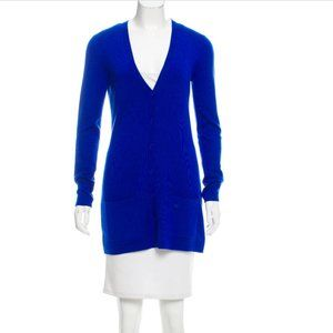 MICHAEL KORS Blue Long Cashmere Cardigan Sweater S